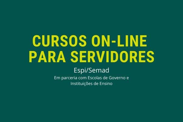 Espi/Semad disponibiliza cursos online e gratuitos para os servidores municipais